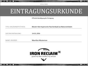 IRON-RECLAIM-Eintragungsurkunde-300